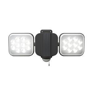 ムサシ RITEX フリーアーム式LEDセンサーライト 12W×2灯 LED-AC2024 防犯ライ...