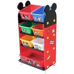 錦化成 おもちゃ箱 ミッキーマウス トールトイステーション レッド R-fri|recommendo