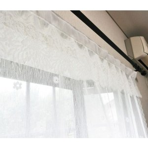パイルレース 出窓用 スタイルカーテン 145cm×85cmフリル レースカーテン 国産 日本製 北欧 おしゃれ 代引不可|recommendo|06