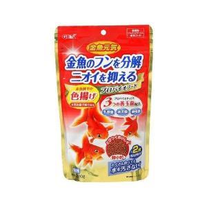【商品詳細】 金魚のフンを分解ニオイを抑える。 ・乳酸菌・酵母菌が腸の健康を維持し、納豆菌がフンや食...