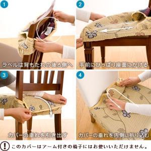 スペイン製ストレッチフィットチェアカバー CAROLINA カロリーナ 2枚組セット 椅子 カバー フィット ストレッチ|recommendo|03