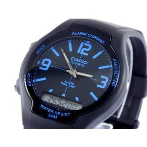 カシオ CASIO スタンダード アナデジ 腕時計 AW-90H-2B|recommendo