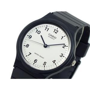 カシオ CASIO クオーツ 腕時計 MQ24-7BL ホワイト×ブラック|recommendo