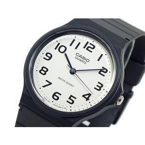 カシオ CASIO クオーツ 腕時計 MQ24-7B2L ホワイト×ブラック|recommendo