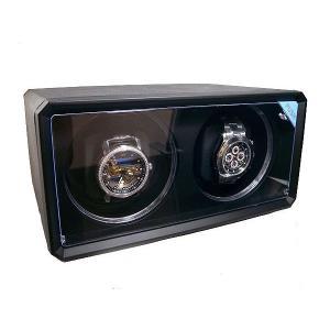 ワインダー/ワインディングマシーン 2本巻き ABSレザー ブラック|recommendo