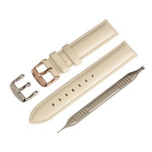 イタリアンオイルレザー 本革 腕時計 時計バンド 替えベルト アイボリー 18mm IO-1218