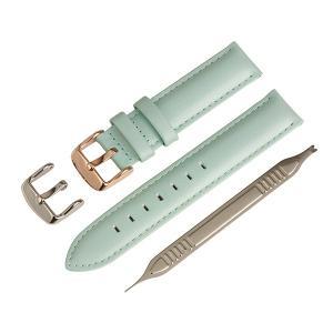 イタリアンオイルレザー 本革 腕時計 時計バンド 替えベルト リバーブルー 18mm IO-2218
