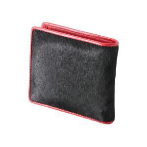 マニアックワーカー 本革 ハラコ折り財布 二つ折り財布 メンズ レザー|recommendo