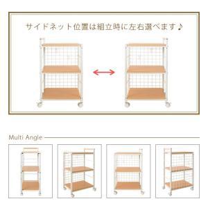 キッチンワゴン Falun ファールン 高さ77cm キャスター付き キッチン収納 ワゴン 棚 ラック 台所収納 代引不可|recommendo|10