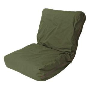 HANPU ざっくり洗いざらしの帆布ソファ 座椅子 42段階リクライニング フロアチェア 座椅子 代引不可 recommendo