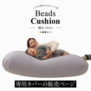 日本製 特大ビーズクッション 極みMAX 洗える専用撥水カバー 60×160cm 替えカバー 特大 MAX ソファ ベッド 補充 国産 代引不可|リコメン堂