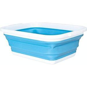 コジット 薄く畳める洗い桶 90520 折りたたみ コンパクト 風呂桶 たらい|recommendo