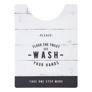 ベストコ トイレマット ロング ルール ホワイト さらっと拭ける お手入れ簡単 ND-9975|recommendo