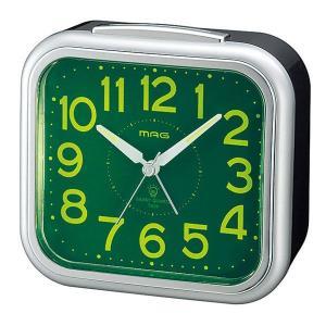 スタンダード目覚し時計 T-619 めざマグ ホワイト/24点入り(代引き不可)