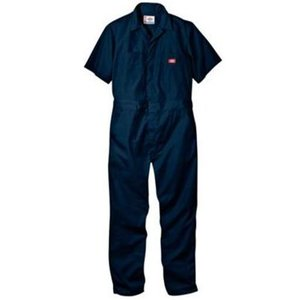 DICKIES ディッキーズ 半袖カバーオール #33999 SHORT SLEEVE COVERALL ディッキーズ ダークネイビー|recommendo