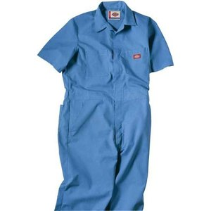 DICKIES ディッキーズ 半袖カバーオール #33999 SHORT SLEEVE COVERALL ディッキーズ ブルー|recommendo