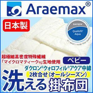 日本製 マイクロマティーク側生地 ダクロンクォロフィルアクア中綿 オールシーズン 2枚合せ 洗える掛け布団 ベビーサイズ 95×120cm recommendo