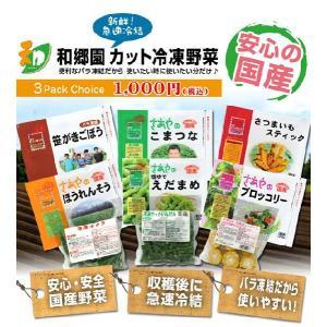 【11/25 12:00販売終了】和郷園 カット冷凍野菜 選べる全9種類 3パックチョイス(着日指定不可) recommendo 03