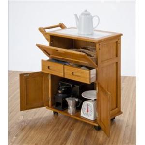 天然木フラップ式 キッチンワゴン OSK-T016(代引き不可)|recommendo