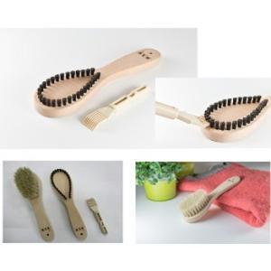 ■毛玉を取ったら洋服ブラシで風合いを整えます。 洋服ブラシで衣類の汚れ、ホコリ、チリ、花粉を落とすば...