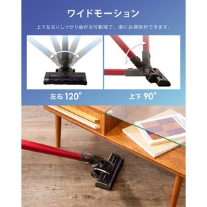 掃除機 サイクロン 吸引力 2WAY コードレス掃除機 スティッククリーナー SP-RCL4W simplus シンプラス コードレスクリーナー|recommendo|10