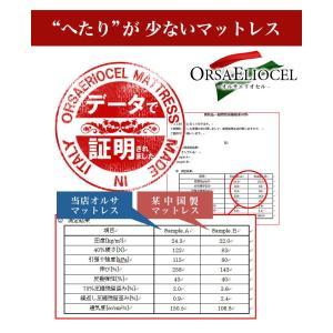 イタリア製 オルサエリオセル マットレス シングルサイズ 高反発 健康 三つ折り 代引不可|recommendo|04