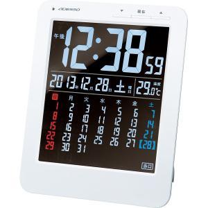 カラーカレンダー電波時計 KW9292 ADESSO 代引不...