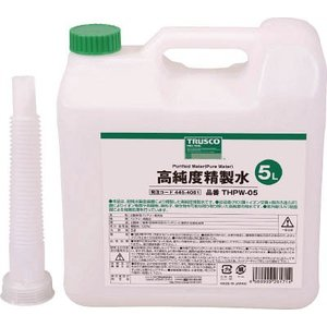 TRUSCO 高純度精製水 5L THPW-05 化学製品・精製水 recommendo