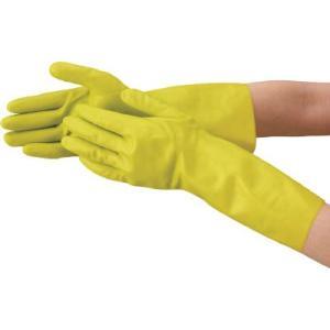 TRUSCO 天然ゴム手袋 薄手タイプ グリ-ン Lサイズ DPM5497GL recommendo