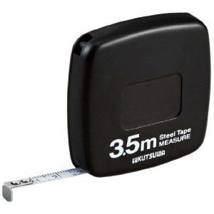 クツワ HiLiNE 超薄型メジャー 3.5m ブラック MJ002BK