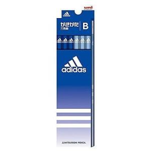 三菱鉛筆 アディダス 青 12本セット硬度:B6角軸 5587 B