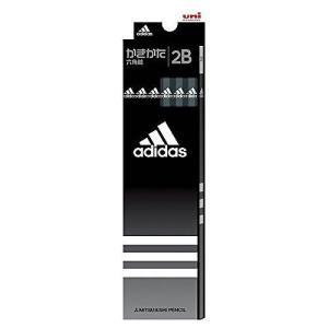 三菱鉛筆 アディダス 黒 12本セット硬度:2B6角軸 5588 2B