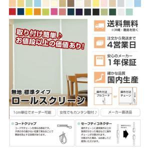 日本製 ロールスクリーン オーダー 1cm単位 リーズナブル 幅25~40cm 高さ30~90cm タチカワブラインドグループ 代引不可|recommendo|02
