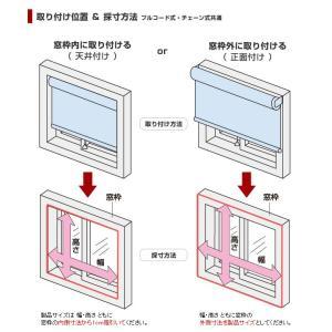 日本製 ロールスクリーン オーダー 1cm単位 リーズナブル 幅25~40cm 高さ30~90cm タチカワブラインドグループ 代引不可|recommendo|05