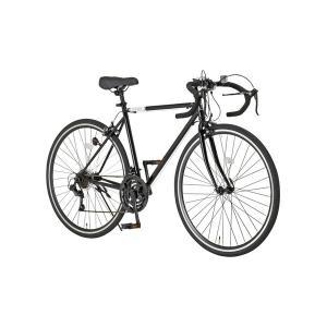 ロードバイク 700c(約28インチ)/ブラック(黒) シマノ21段変速 重さ/14.6kg 〔Gr...