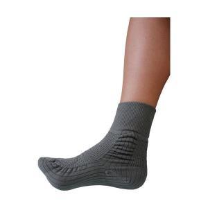 (業務用2セット) 蘭花 転倒予防靴下アガルーノ グレー24-25cm