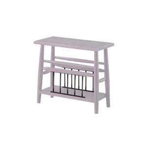 サイドテーブル/ミニテーブル 〔ホワイト 幅50cm〕 木製 棚板1枚付き 『ブリジット』 〔リビン...
