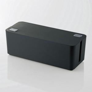 5個セット エレコム ケーブルボックス(6個口) ブラック EKC-BOX001BKX5