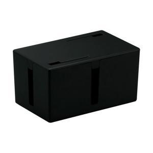 (まとめ) バッファロー ケーブルボックス 電源タップ&ケーブル収容 Sサイズ ブラック BSTB0...