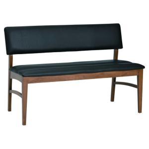 ダイニングベンチ 完成品 ベンチ チェア 背もたれ付き 椅子 木製 PVC リビング おしゃれ 北欧 ヴィンテージ 生活 ブライト114 代引不可|リコメン堂