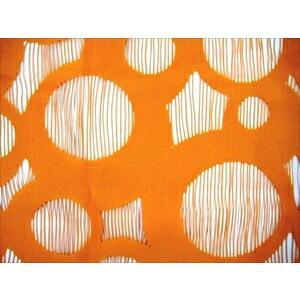 防蚊加工 フリーカットのれん 176cm丈 オレンジ 防蚊 のれん タペストリー 間仕切り カーテン(代引き不可)|recommendo