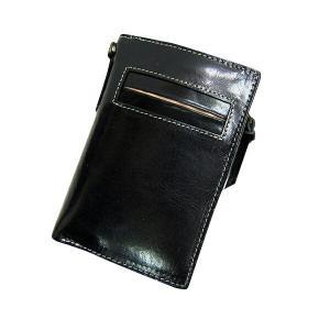 Maturi マトゥーリ プッチーニ イタリアンレザー L字ファスナー 二つ折り財布 MR-021 BK|recommendo