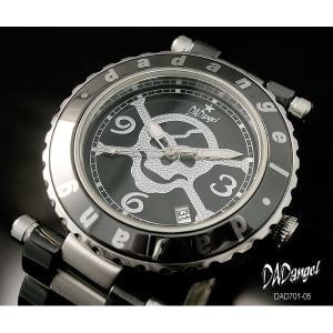 DADangel ダッドエンジェル 腕時計 スカル セラミック メンズウォッチ DAD701-05 ブラック|recommendo
