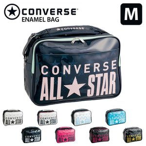 コンバース CONVERSE スポーツバッグ エナメルバッグ 通学バッグ ショルダーバッグ /エナメルショルダー Mサイズ C1600053 M 18L|recommendo