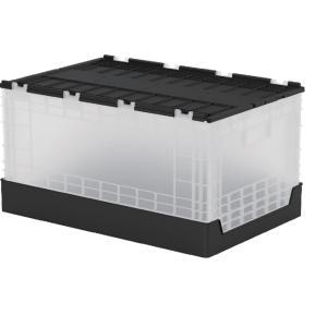 蓋つき折りたたみコンテナ 58L 収納 livinbox 黒・白 FB-6040L BT|recoshop