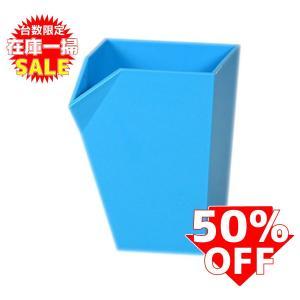 在庫一掃セール!ペン立て おしゃれ livinbox ブルー PB-0707 5個セット|recoshop