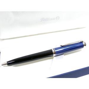 ペリカン PELIKAN SOUVERAN SILVER TRIM ボールペン K805 ブルー縞 BP