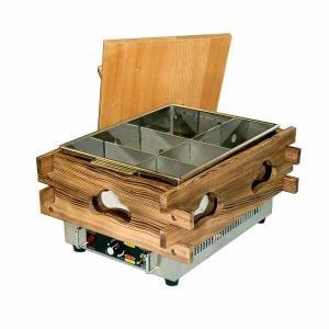 新品:エイシン 電気おでん鍋(サーモ式) 幅370×奥行470×高さ279(mm) CVS-6S(6ツ切)|recyclemart
