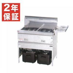 新品:フライヤー:マルゼン ガスフライヤー MGF-C18WK 2槽式|recyclemart
