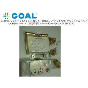 V-LX 5 シルセット●対応扉厚(DT):29-43mm●キー:3本付 GOAL ゴール LX B...